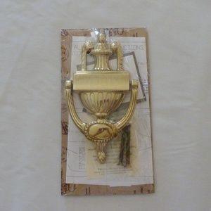 Brass Urn Doorknocker and Finish Buttons NIB Rare